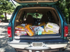 Donated items for animal shelters